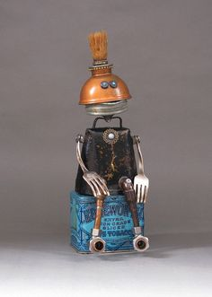 Hey, I found this really awesome Etsy listing at https://www.etsy.com/listing/243375211/robot-sculpture-metal-sculpture-junk