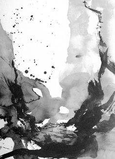 Original Ink Painting, abstract landscape painting, Do not block my sight please