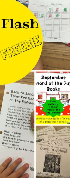 Get our Word of the Day September Books and Songs for FREE for a very short time! We have had so much success with our kiddos singing and reading these books that we want to offer them for y'all to try!