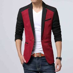 2014 autumn influx of new men's leisure suit jacket Slim Korean hit color stitching small suit male hairdresser -tmall.com Lynx http://www.99wtf.net/trends/importance-wear-mens-shoes/