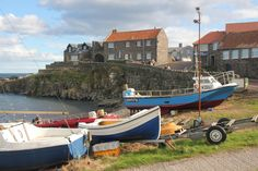 One of the more appealing fishing villages in the region, Craster draws walkers off the coastal path to its pub, art gallery and smokehouse set around an old harbour. Slow Northumberland; www.bradtguides.com Dunstanburgh Castle, Northumberland Coast, Durham City, Harbor Town, Great North, North East England, Natural Selection, Slow Travel, True North