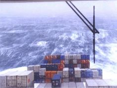 Felixstowe Dockers: Container ship in a storm