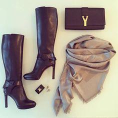 Yeasterday's details & Balmuir Marchese scarf @Daydreamingmussu (Instagram). www.balmuir.com/shop