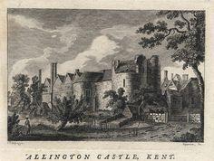 allington castle kent england | ... : Kent, Allington Castle, 1786, England, prints and county maps
