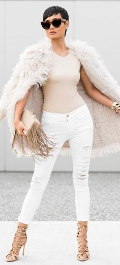 Nudes And White Casual Chic Outfit Idea by Micah Gianneli
