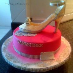 birthday cake - louboutin shoe  .
