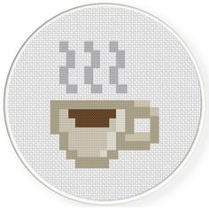 8-Bit Coffee Break Cross Stitch Pattern