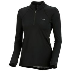 Columbia Sportswear Base Layer Omni-Heat® Top - Zip Neck, Midweight, Long Sleeve (For Women) in Black $39.95