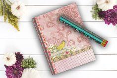 Yellow Bird Notebook birthday gift Travel Journal by Teakberry