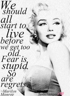 Marylin Monroe. Je suis entièrement d'accord avec elle. XO with Love.
