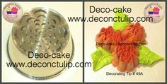ADC Russian nozzle - Malaysian style Tip Russian Icing Tips, Russian Cakes, Russian Cake Decorating Tips, Russian Nozzles, Cake Style, Piping Tips, New Cake, Fashion Cakes, Cake Tutorial