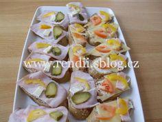 POHOŠTĚNÍ-obložené chlebíčky - Rendiny stránky Eggs, Breakfast, Food, Morning Coffee, Essen, Egg, Meals, Yemek, Egg As Food