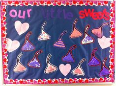 Our Technology is Sweet! February Bulletin Boards, Valentines Day Bulletin Board, Winter Bulletin Boards, Classroom Board, Classroom Bulletin Boards, Classroom Decor, Preschool Art, Preschool Winter, Winter Activities