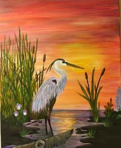 Plástica...ed artistica Landscape Quilts, Landscape Art, Pictures To Paint, Art Pictures, Wine And Canvas, Animal Paintings, Bird Art, Painting Inspiration, Painting & Drawing