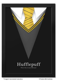 Hufflepuff | Posters Minimalistas
