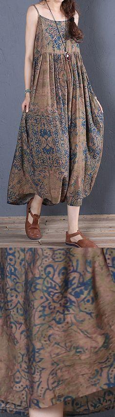 Simple brown prints cotton clothes For Women sleeveless Robe summer Dress - Simple brown prints cotton clothes For Women sleeveless Robe summer Dress Source by DressOriginal - Simple Summer Dresses, Summer Dress Outfits, Wedding Dress, Lace Dress With Sleeves, Crochet, Clothes For Women, Vanitas Vanitatum, Prints, Jumpsuit