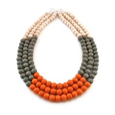 Multi Strand Necklace  Color Block Necklace  by FulfilledDesigns, $35.00