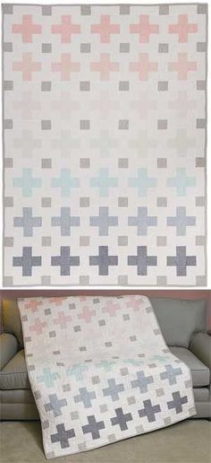 Contemporary Baby Quilt? HARRISON CROSSING QUILT PATTERN - Keepsake Quilting