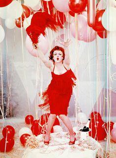 Marilyn Monroe as Clara Bow, photographed by Richard Avedon, 1958