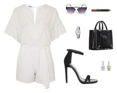 """""""Untitled #3393"""" by antonellac15 ❤ liked on Polyvore featuring WalG, Office, Balenciaga, FOSSIL and NARS Cosmetics"""