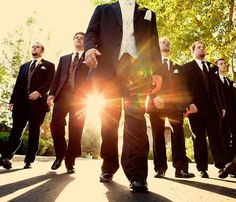 The walk to the ceremony is made all the more epic with this low angle and dramatic use of lighting.