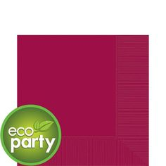 Raspberry Lunch Napkins - Party City