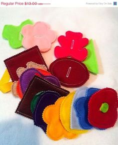 Felt button snake busy bag or quiet book project- educational game learning toy