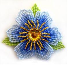 Beading Tutorials, Beading Patterns, Beaded Brooch, Beaded Jewelry, Cross Stitch Designs, Cross Stitch Patterns, Crochet Bedspread Pattern, French Beaded Flowers, Beaded Cross