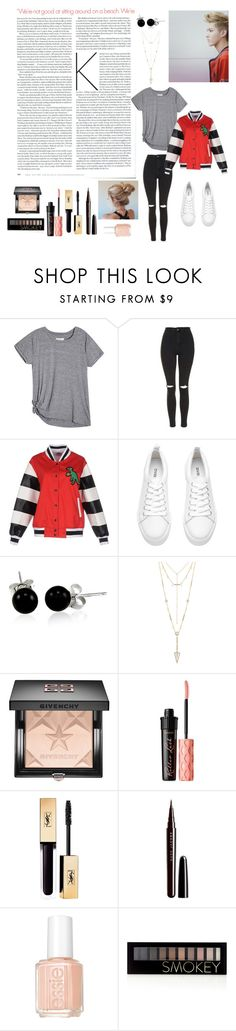 """EXO 크리스(Kris)"" by bts-got7-block-b ❤ liked on Polyvore featuring KRISVANASSCHE, Topshop, Au Jour Le Jour, Bling Jewelry, House of Harlow 1960, Givenchy, Benefit, Marc Jacobs, Essie and Forever 21"