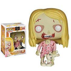 Funko - Bobugt126 - Figurine Cinéma - The Walking Dead - Bobble Head Pop 154 Zombie Teddy-bear Girl !
