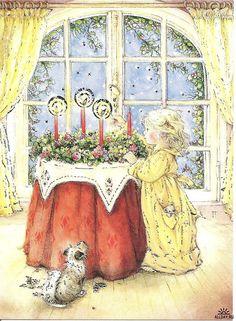 Tasha Tudor - Christmas  Advent  wreath
