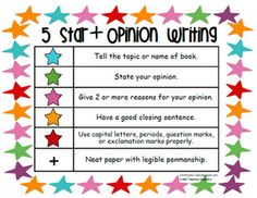 5 Star + writing  Common Core Standards First Grade Writing rubric!  Perfect for next year!
