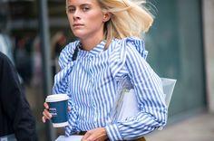 Attendees at London Fashion Week Spring 2017 - Street Fashion