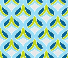 Dijon Retro Fabric Print fabric by kippygo on Spoonflower - custom fabric