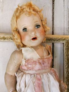"vintage doll. ""Repinned by Keva xo""."