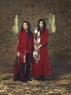 Cabbages & Roses Autumn 2013 Red Velvet Models Sophie Strutt and Millie Brady