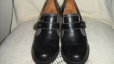 """Naturalizer Womens Shoes Size 6 Bootie Black Pump Leather Natural Soul 3"""" Heel - BUY NOW ONLY 38.99"""