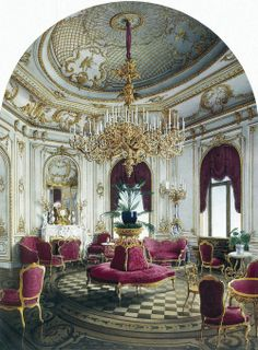 Jules Mayblum - Palace of Count P. S. Stroganov. Corner Room (c. 1860).