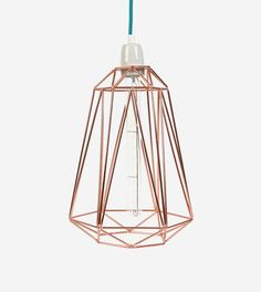 Diamond 5 Copper Blue Lamp by FilamentStyle made in Luxembourgsur CROWDYHOUSE