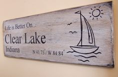 Hand+Painted+Personalized+Lake+Sign+by+southofmain+on+Etsy,+$28.00