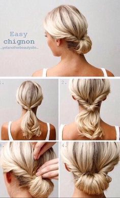Cute hairstyles for short to medium hair. Quick low bun hairstyles. Braid/Braided hairstyles. Quick, on-the-go, simple hairstyles.