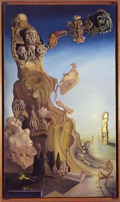 Salvador Dali - Imperial Monument to the Child-Woman, 1929 Salvador Dali Gemälde, Salvador Dali Paintings, Dali Artwork, Spanish Artists, Monet, Art Moderne, Fantastic Art, Surreal Art, Oeuvre D'art