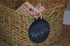 7 Ideas for reusable chalkboard anything tags