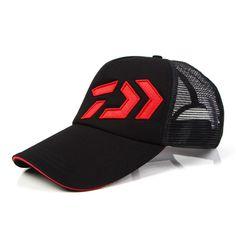 5dd28ad4e7f99 fishing hats Daiwa Male sunshade sun visor DAIWA breathable mesh cap  Adjustable hat around fishing tackle