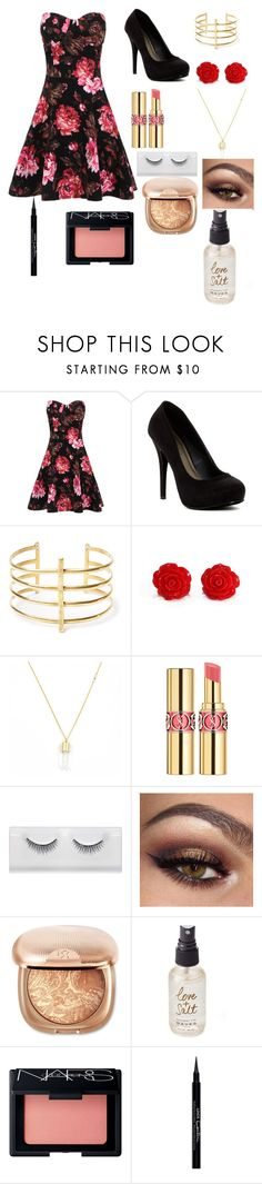 """""""Untitled #82"""" by littlemissivy1 ❤ liked on Polyvore featuring Michael Antonio, BauXo, Yves Saint Laurent, Olivine, NARS Cosmetics and Givenchy"""