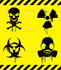 Buy Warning Signs by timurock on GraphicRiver. Set of 4 warning signs with grunge elements. This file is fully editable vector illustration. Gas Mask Drawing, Gas Mask Art, Masks Art, Tatouage Plumeria, Biohazard Tattoo, Tf2 Meme, Foto Portrait, Totenkopf Tattoos, Arte Robot