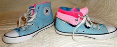 CONVERSE Chuck Taylor High Tops Sneakers TWICE AS NICE Youth Size 2 Multi~Color #Converse #Athletic