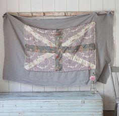 rachel ashwell prairie | ... Rachel Ashwell Shabby Chic Couture☆ Union Jack Prairie Throw / Wall