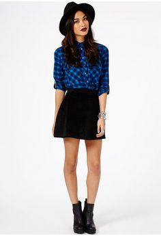 Crocifissa Checked Shirt - Tops - Shirts - Missguided