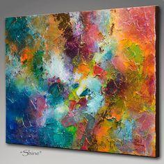 Ursprüngliche abstrakte moderne Kunst Malerei, Mixed Media AcrylicPainting, Wall Art, 18 x 24, texturierte Malerei auf Leinwand, Metallischer Glanz